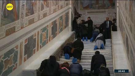 El Vaticano exhibe tal como era la escalera de mármol por la que subió Jesús para su juicio