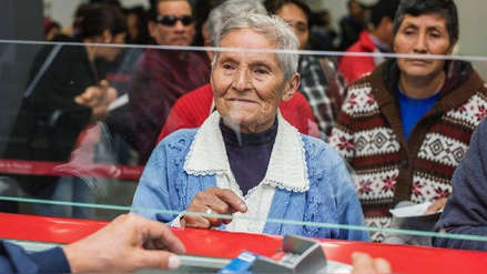 Banco de la Nación atenderá este domingo 14 de abril a usuarios de Pensión 65