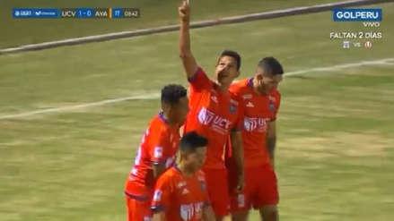 Lo miran en Cristal: el golazo que marcó Renzo Garcés de 'chalaca' ante Ayacucho FC
