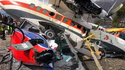 Avión se estrelló con dos helicópteros y dejó al menos tres muertos en Nepal