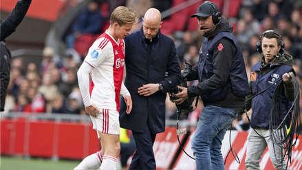 ¿Llegará al partido con Juventus? Entrenador de Ajax habló sobre la lesión de Frenkie de Jong