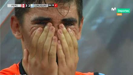 El desgarrador llanto de los jugadores uruguayos tras gol de Perú sobre la hora