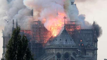 Emmanuel Macron tras incendio en catedral de Notre Dame: