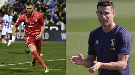 Karim Benzema anotó ante Leganés y rompió una marca de Cristiano Ronaldo