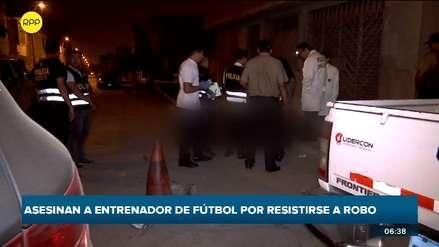 Asesinan a entrenador de fútbol tras resistirse a robo en Villa El Salvador [VIDEO]