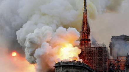 Las imágenes del trágico incendio en la Catedral de Notre Dame