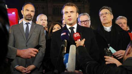 Macron dice que en cinco años la catedral de Notre Dame será reconstruida