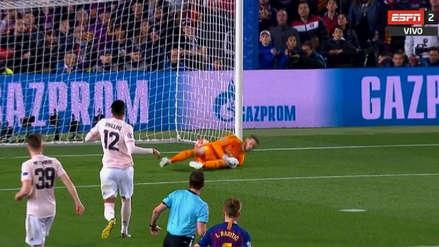 Tremendo 'blooper' de De Gea y golazo de Messi con la derecha