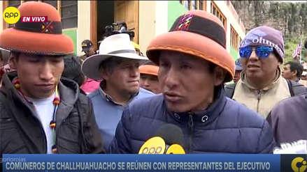 Comuneros de Challhuahuacho se retiran de diálogo y evalúan retomar paro