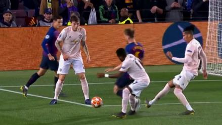 El VAR le anula un penal al Barcelona en su duelo ante Manchester United