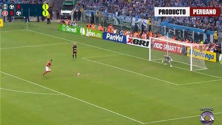 Paolo Guerrero anotó en la tanda de penales por la final del Campeonato Gaúcho