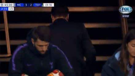 Tottenham: La sorprendente reacción de Pochettino al término del primer tiempo ante Manchester City
