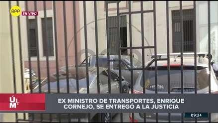 Enrique Cornejo llegó a la Prefectura luego de ser detenido por la Policía