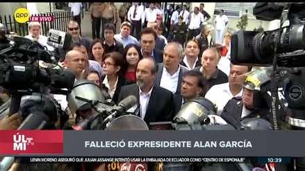 Dirigentes apristas: Muerte de Alan García es consecuencia