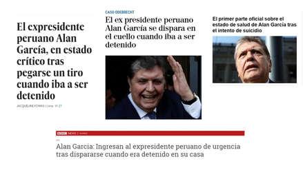 Alan García se disparó: Así informó la prensa internacional sobre el caso del expresidente