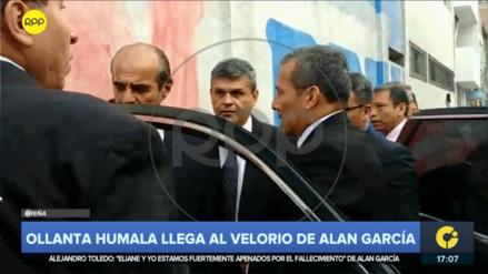 Ollanta Humala llegó a la Casa del Pueblo, pero no pudo ingresar al velorio de Alan García