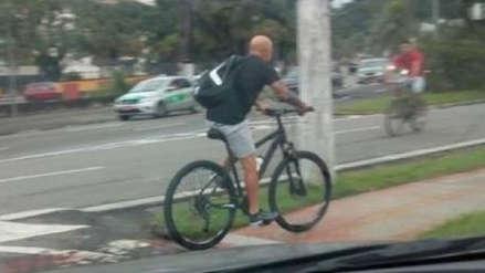 Jorge Sampaoli sufrió insólito robo de su bicicleta en Sao Paulo