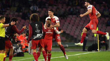 Arsenal derrotó 1-0 a Nápoli y selló su pase a las semifinales de Europa League