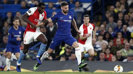 Chelsea derrotó 4-3 al Slavia Praga y se metió a las semifinales de la Europa League