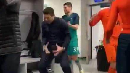 Mauricio Pochettino imitó al 'Cholo' Simeone en su celebración con el Tottenham