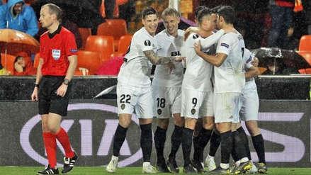 Valencia ganó 2-0 a Villarreal y se clasificó a la semifinal de la Europa League