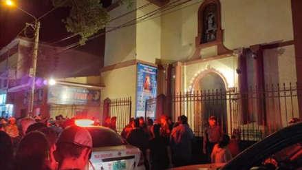 El angustiante momento en que se desploma techo de iglesia en Huánuco [VIDEO]