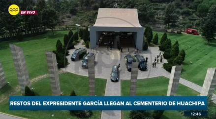 En vivo | Familiares y líderes apristas despiden a Alan García en cementerio de Huachipa