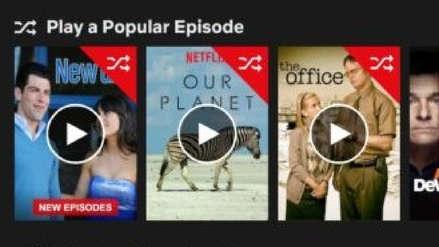Netflix está probando una función para ver episodios aleatorios