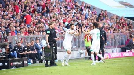 Claudio Pizarro ingresó ante Bayern Munich y fue ovacionado en el Allianz Arena