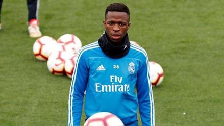 Vinicius Junior retornó a los entrenamientos de Real Madrid