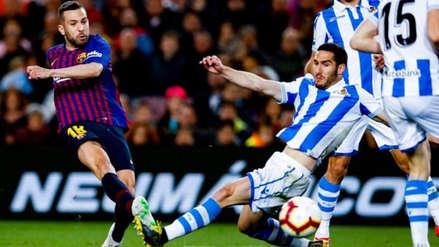 Barcelona: Jordi Alba anotó tras zapatazo de derecha en el triunfo ante Real Sociedad