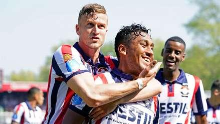 ¡Golazo! Renato Tapia anotó por primera vez con la camiseta del Willem II