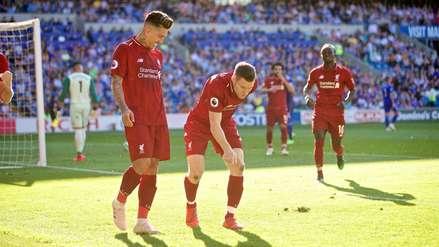 James Milner anotó en el triunfo del Liverpool y celebró como el 'Checho' Ibarra