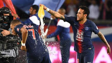 Con el regreso de Neymar, así celebró el PSG su segundo título seguido de Ligue 1