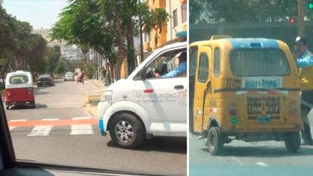 Municipio de Surco incautó tres mototaxis informales tras persecución