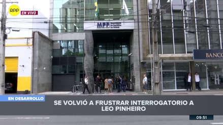 Por segundo día consecutivo se frustró el interrogatorio a Leo Pinheiro, expresidente de OAS