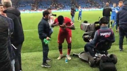 Jefferson Farfán y el bello gesto a un niño tras su doblete con Lokomotiv de Moscú