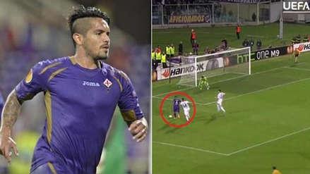UEFA recordó golazo de Juan Vargas con Fiorentina en la Europa League