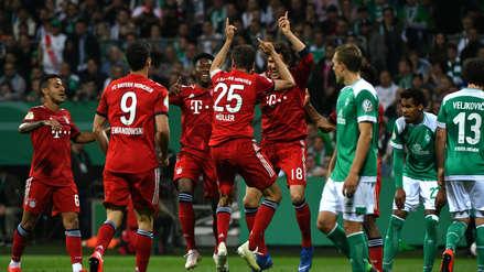 Bayern Munich ganó 3-2 al Werder Bremen y clasificó a la final de la Copa Alemana