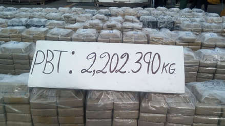 Callao: Más de dos toneladas de cocaína fueron incautadas en un buque