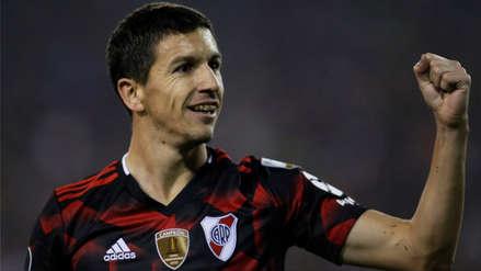 Ignacio Fernández aprovechó un error del arquero para marcar el segundo gol de River Plate ante Palestino