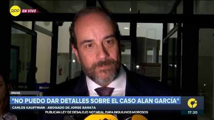 Abogado de Jorge Barata: Abogado de Alan García tuvo