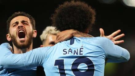 Manchester City derrotó 2-0 a Manchester United y retoma el liderato de la Premier League