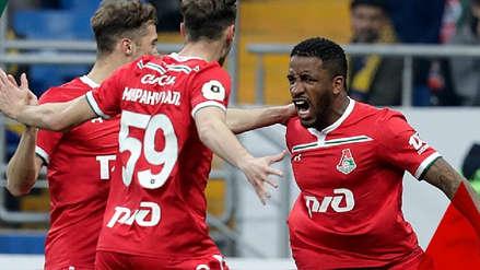 Jefferson Farfán anotó con perfecto golpe de cabeza en triunfo de Lokomotiv de Moscú ante Rostov