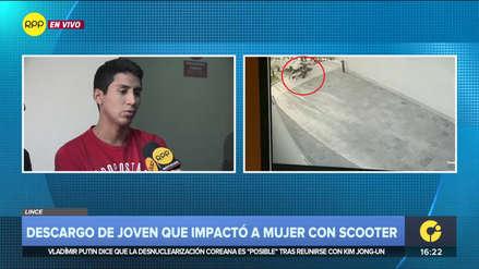 Joven tras accidente con scooter en San Isidro: