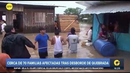 Ucayali | Un desaparecido y cerca de 70 familias afectadas por desborde de quebrada