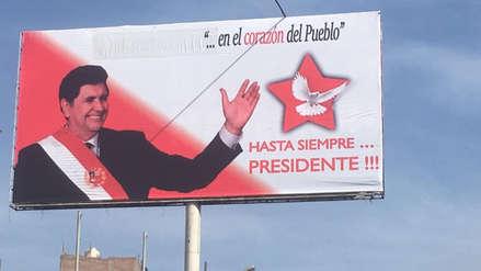 Alan García   Apristas borran frase que anunciaba su 'resurrección' en Arequipa