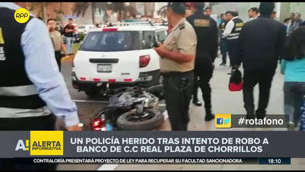 Un policía resultó herido tras frustrar asalto a banco en centro comercial de Chorrillos