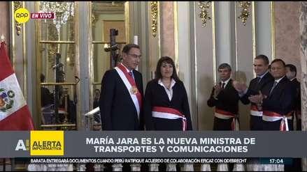 María Jara juró como ministra de Transportes en reemplazo de Edmer Trujillo