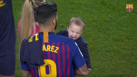 Foto del hijo de Luis Suárez recordó el mordisco a Giorgio Chiellini